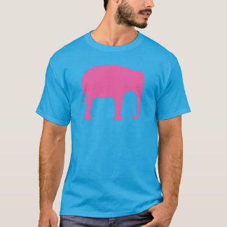 Pink Elephant Silhouette T-Shirt