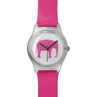 Pink Elephant Silhouette Watch