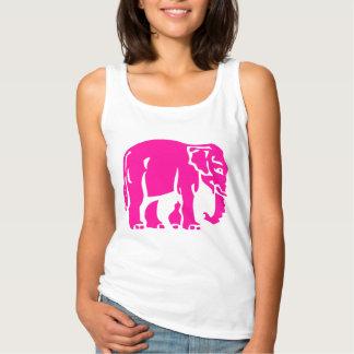 Pink Elephants Crossing ⚠ Thai Road Sign ⚠ Basic Tank Top