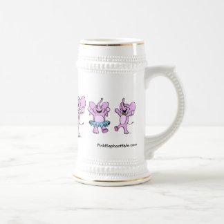 Pink Elephants Logo Stein Coffee Mug