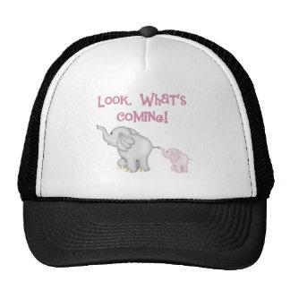 Pink Elephants Look What's Coming Trucker Hats
