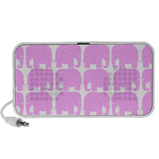 Pink Elephants Silhouette Doodle Speaker System