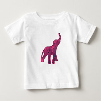 Pink Elephants Stars Pattern Baby T-Shirt