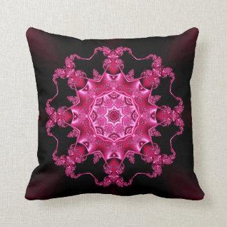 Pink enamel fibula throw pillow