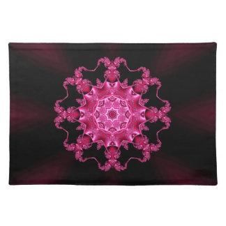Pink enamel fibula placemats