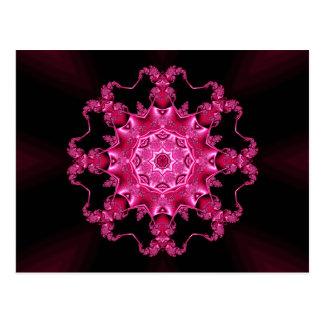 Pink enamel fibula postcard