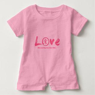 Pink enso zen circle, Japanese symbol for love Baby Bodysuit