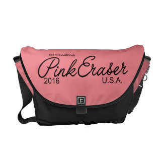 Pink Eraser Messenger Bag/Diaper Bag Commuter Bag