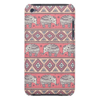 Pink Ethnic Elephant Pattern iPod Touch Cover