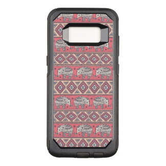 Pink Ethnic Elephant Pattern OtterBox Commuter Samsung Galaxy S8 Case