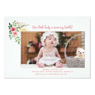 Pink Expression Photo Invitation