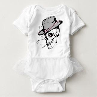 pink eye skull baby bodysuit