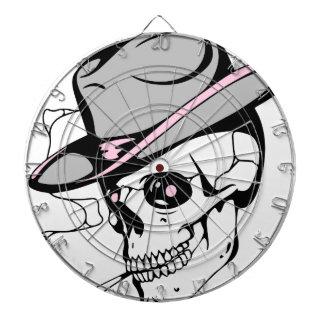 pink eye skull dartboard