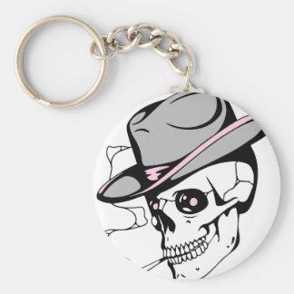 pink eye skull key ring