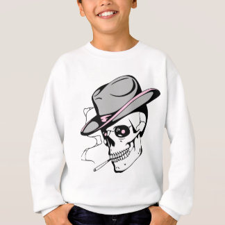 pink eye skull sweatshirt