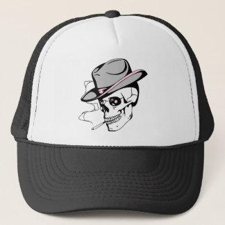 pink eye skull trucker hat