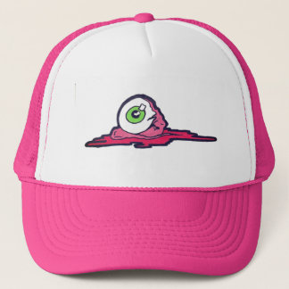 Pink Eye Trucker Hat