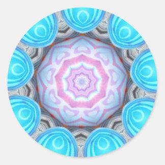Pink Eyeball Fractal Classic Round Sticker