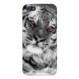 Pink Eyed Tiger iPhone 5/5S Cases