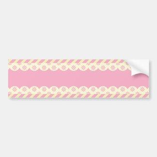 Pink  Eyelet  Background Bumper Sticker