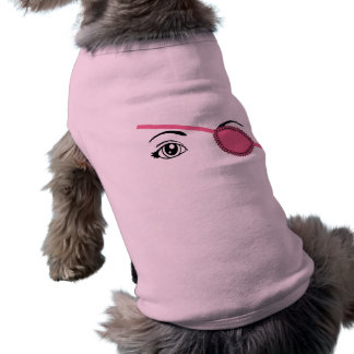 Pink Eyepatch Sleeveless Dog Shirt