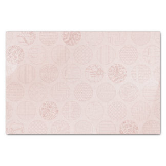 Pink Fabric Circles Tissue Paper