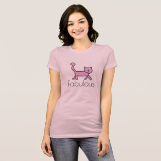 Pink fabulous kitty tee