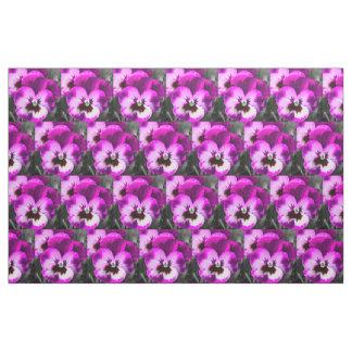 Pink Fabulous Pansy Fabric