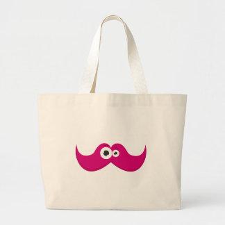 Pink facetache - The moustache with a face Bags