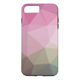 Pink faded polygonal iPhone 7 plus case