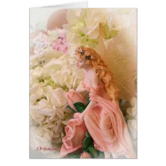Pink fairy portrait vignette card