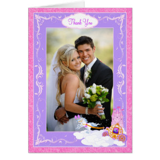 Pink Fairy Tale Multi Photo Thank You Note Card