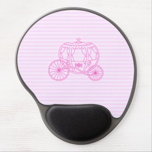Pink Fairytale Carriage Gel Mouse Mats