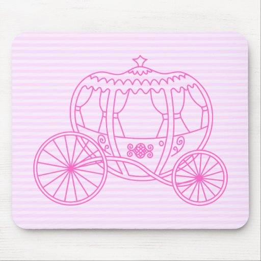 Pink Fairytale Carriage Mouse Pads