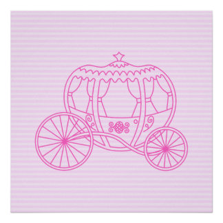Pink Fairytale Carriage Print
