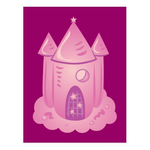Pink Fairytale Castle Post Card
