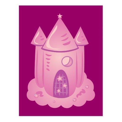 Pink Fairytale Castle Postcard
