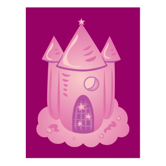 Pink Fairytale Castle Postcard