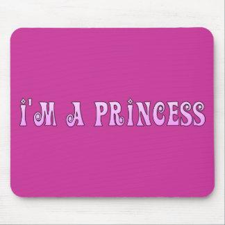 PINK FAIRYTALE IM A PRINCESS SAYING COMMENT ATTITU MOUSE PADS