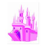 Pink Fairytale Wedding Castle Postcards