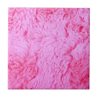 Pink Faux Fur Ceramic Tile