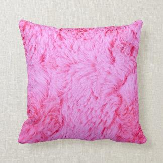 Pink Faux Fur Cushion