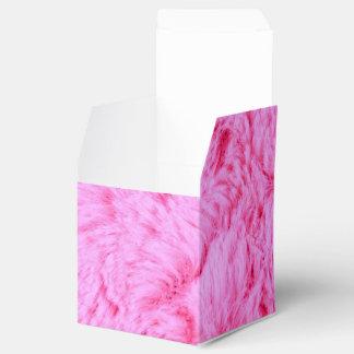 Pink Faux Fur Favour Box