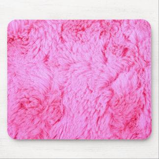 Pink Faux Fur Mouse Pad