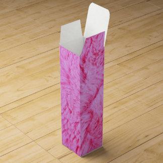 Pink Faux Fur Wine Box
