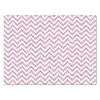 Pink Faux Glitter Chevron Tissue Paper