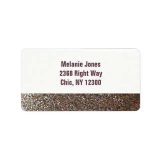 Pink Faux Glitter New Address Address Label