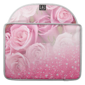 Pink Faux Sparkly Glitter Rose For Women And Girls Sleeve For MacBooks