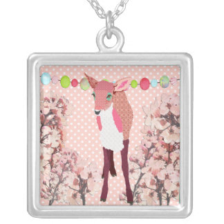 Pink Fawn Cherry Blossom Necklace