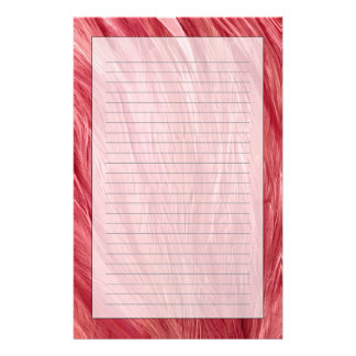Pink Feathers Personalized Stationery